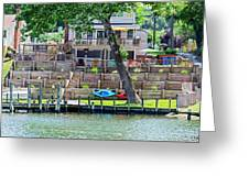 Waterfront Landscaping Greeting Card