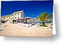 Waterfront Promenade Og Town Primosten Greeting Card