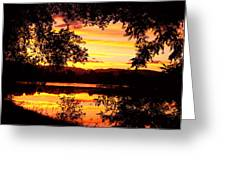 Waterfront Spectacular Sunset Greeting Card