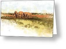 Waterhole - Addo National Park  Greeting Card
