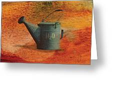 Watering Can H20 Greeting Card