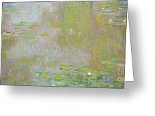 Waterlilies At Giverny Greeting Card by Claude Monet