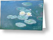 Waterlilies Evening Greeting Card