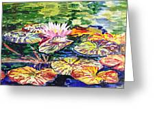 Waterlilies Impressionism Greeting Card