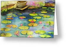 Waterlilies Greeting Card by Sydne Archambault