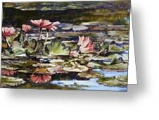 Waterlilies Tower Grove Park Greeting Card