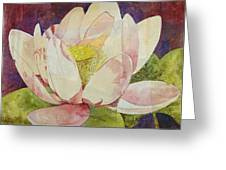 Waterlily Collage Greeting Card