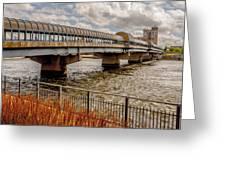 Waterloo Iowa Bridge Greeting Card