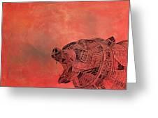 Watermelon Bear Greeting Card