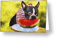 Watermelon Lunch Greeting Card