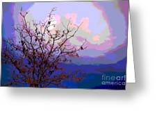 Watermelon Sky Greeting Card by Barbara Schultheis