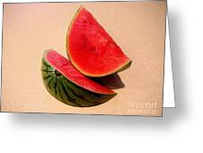 Watermelon Study Greeting Card