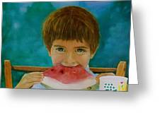 Watermelon Time Greeting Card by Bruce Ben Pope