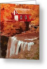 Watermill In Autumn Greeting Card