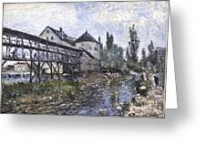 Watermill Near Moret Greeting Card