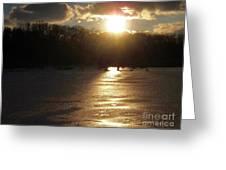 Watershed Sunset Greeting Card