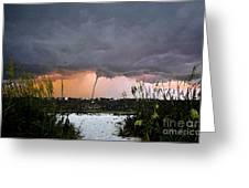 Waterspout Over Pass A Grill Greeting Card