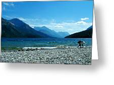 Waterton Beachcomber Greeting Card