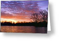 Waterville Sunrise Panorama 0002 0003 Signed Greeting Card
