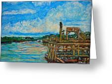 Waterway Near Pawleys Island Greeting Card