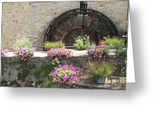 Waterwheel In Bayeux Greeting Card