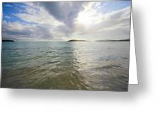 Watery Sunset At Media Luna Greeting Card