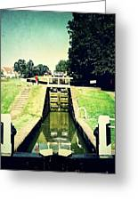 10945 Watford Locks On The Grand Union Canal Greeting Card