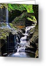 Watkins Glen Rainbow Falls Greeting Card