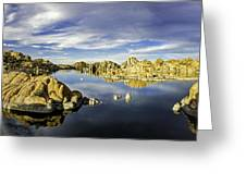 Watson Lake Panoramic 30x12 Greeting Card