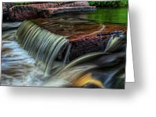 Wausau Whitewater Course Through Granite Greeting Card