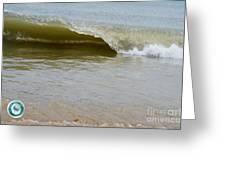 Wave At Sandbridge Virginia Greeting Card