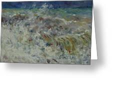 Wave At Sea Greeting Card