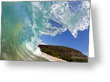 Wave Breaking Greeting Card
