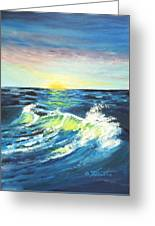 Wave By Early Light Greeting Card