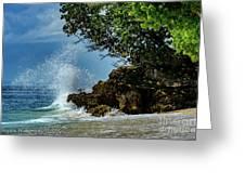 Wave Crashing Punta Cana Greeting Card