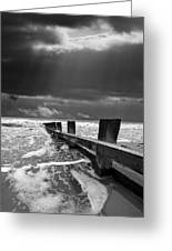 Wave Defenses Greeting Card by Meirion Matthias