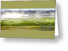 Wave Glass  Greeting Card