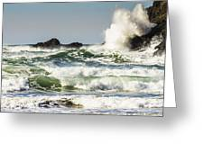 Wave Impact Greeting Card