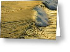 Wave Rolling Gold Greeting Card