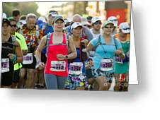 Wave Start At Pikes Peak Marathon And Ascent Greeting Card