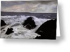 Wave Strike Point Lobos Greeting Card