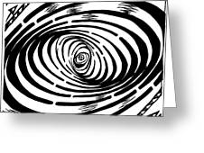 Wave Swirl Maze Greeting Card