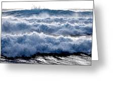 Wave Upon Wave Upon Wave Greeting Card