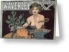 Waverley Cycles - Paris 1898 Greeting Card