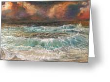 Waves 3  Greeting Card