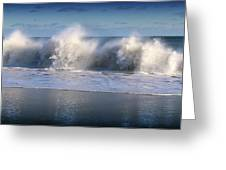 Waves Against The Wind Greeting Card