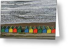 Waves And Beach Huts - Whitby Greeting Card