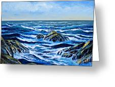 Waves And Foam Greeting Card