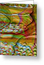 Waves And Patterns Greeting Card