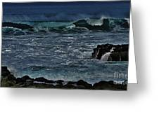 Waves And Wind Greeting Card
